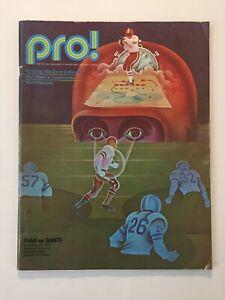 Vintage 1972 Los Angeles Rams NFL Program vs New Orleans Saints--Gabriel, Olsen