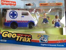 2005 Fisher Price Geo Trax Most Helpful Team Ambulance   L6374 NIB