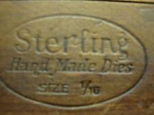 Sterling Hand Made Dies size 1/10 A to Z plus wood box for Leather work?