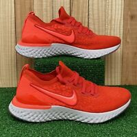 """Nike Epic React Flyknit 2 """"Chili Red"""" Running Shoes AQ3243-601 Size 5.5Y"""