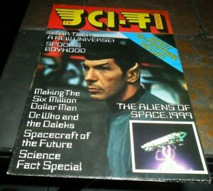 1976 VINTAGE #1 FIRST Issue STAR TREK SPOCK COVER TV SCI FI MONTHLY MAGAZINE UK