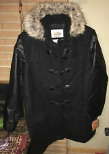 NWT Route 66 Women's Hooded Coat Jacket - Black - Faux fur Hooded -SIZE 3X