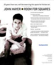 "2001 John Mayer ""Room For Squares"" Debut Album Release Promo Ad Reprint"