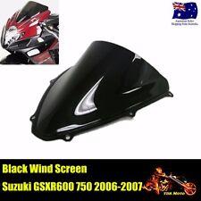 Windscreen Windshield fits Suzuki GSXR600 GSXR750 K6 2006 - 2007 Black 06 07
