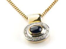 Unbehandelte Echtschmuck-Halsketten & -Anhänger mit Cabochon-Schliffform Diamant