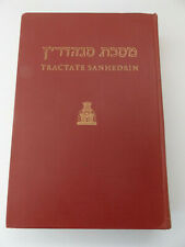 1969 Tractate SANHEDRIN Hebrew-English Ed of the Babylonian Talmud SONCINO PRESS