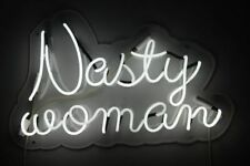 "Nasty Woman Neon Lamp Sign 14""x9"" Acrylic Bright Lighting Glass Decor Bar A"