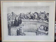 A. Paul Weber Lithographie Im Gerichtssaal signiert
