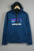 PATAGONIA STY39518 FA17 Men SMALL REG Front Logo Hooded Jumper / Hoodie 20640-S