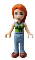 Lego Friends Ann Hose in sand blau Minifigur (frnd287) Figur Legofigur Neu