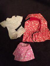 Vintage Barbie Skipper 3373 FLOWER POWER Calico Skirt,Blouse,Red Print Maxi