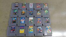 Nintendo NES Game Lot of 20 Wrestlemania, Spy Hunter, Hogan's Alley, Ice Hockey