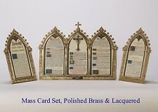 + Set of Latin Mass Cards + Altar Cards + Altar Cannons + Chalice co. + (#113B)