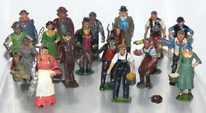 FF26 Lot of lead farm figures, Britains, Hill, Benbros, Pixyland etc