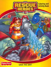 Rescue Heroes coloring book RARE UNUSED