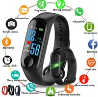 Smart Band Watch Bracelet Wristband Fitness Tracker Blood Pressure HeartRate M3s