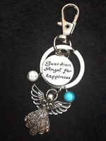 Guardian Angel Keyring Protection Happiness Love Watch Over Me Charm Key Chain