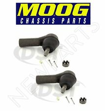For Ford Escape Mercury Mazda Set of 2 Front Outer Steering Tie Rod Ends Moog
