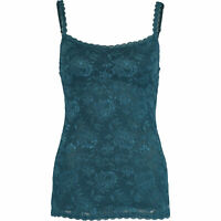 COSABELLA Women's SASSIE Teal Lace Long Camisole Top, size S