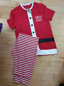 GEORGE Mens Santa Uncle Christmas Pyjamas Size Small NEW BNWT