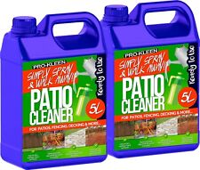 More details for prokleen patio cleaner fluid mould algae moss killer 25% stronger paving 2 x 5l