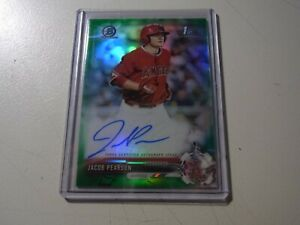 2017 Bowman Draft Chrome Pick Green Refractor /99 Jacob Pearson #CDA-JPE Auto