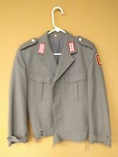 Vintage Schwarz Passau Grey German Military Jacket with Patches