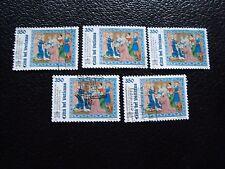 VATICANO - sello yvert y tellier nº 1029 x5 matasellados (A28) stamp