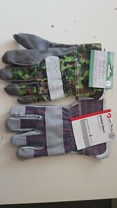 2 Pair Heavy duty Gloves One size Men's and woman