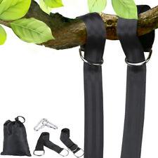 2x Tree Swing Nylon Hanging Hammock Straps 5 Ft Extra Long 2000Lb Carabiner Us