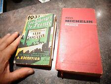 Guide Michelin 1980 & Guide 1933 des Auberges de France des Huiles Energol