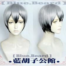 Haikyuu! Shinsuke Kita Short Natural Black Gray Mix Cosplay Costume Wig+Free Cap
