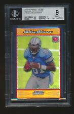 BGS 9 CALVIN JOHNSON 2007 BOWMAN CHROME ORANGE REFRACTOR RC #/25 (10 & 9.5 SUBS)