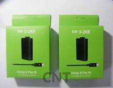 2X FOR Microsoft XBOX ONE Play and Charge Kit Xbox One Rechargable Battery
