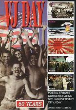 Nevis 2005 MNH WWII VJ Day 60ème seconde guerre mondiale 5v M/S Enola Gay MacArthur timbres