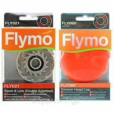 FLYMO Genuine Strimmer Trimmer Head Cap + Spool & Line Double Autofeed