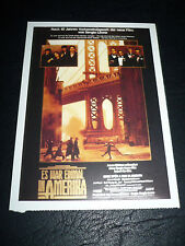 ONCE UPON A TIME IN AMERICA, film card [Robert De Niro] - Sergio Leone
