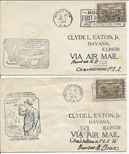 1929 N.B. Canada FFC Cover Lot of 2 - Moncton First Maritime Pageant w/ C1*