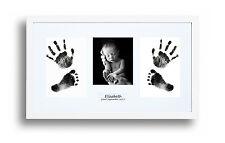 Bebé recién nacido Impresión De Mano & Kit De Marco Blanco Foto de huella bebé ducha regalo