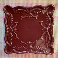 California Pantry Classic Ceramic Burgundy Square Plate Trivet