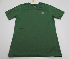 ADIDAS #T1602 Men's Size L Athletic CLIMALITE TECHFIT Short Sleeve Green Shirt