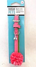Martha Stewart Pet Cat Flower Leather Collar Dog Cat safety collar with cat bell