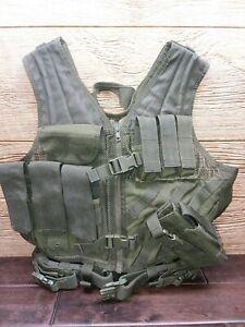 OD Condor Cross Draw Vest CV w/ MOLLE M-L, holster, tactical belt, mag holders