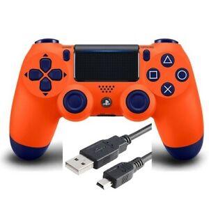 Wireless Sunset Orange DualShock PS4 Controller for Playstation 4 + USB