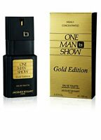 One Man Show Gold Jacques Bogart Edt Spray Box Slightly Damaged 3.3 Oz