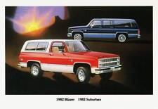 Old Print. 1982 Chevrolet Blazer & Suburban Advertisement