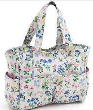 Spring Garden Design Knitting Bag, Craft Bag, Handbag Matt PVC material