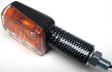 Blinker klein mini Langarm carbonlook klar Superbikes Fighter Stück E-Zeichen