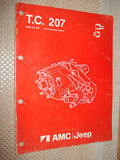 1986 AMC JEEP TRANSFER CASE 207 SERVICE MANUAL WRANGLER COMPONENT PARTS SHOP OEM