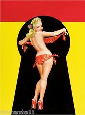 1940s Pin-Up Girl Keyhole Series - Bandana Poster Pin Up Print Art